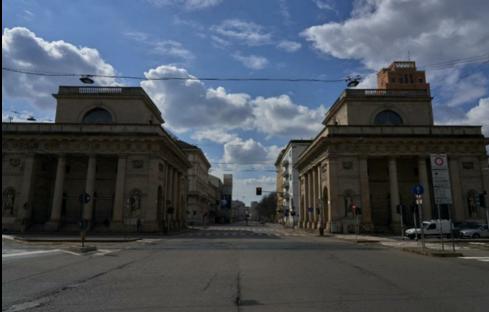Milano empty streets